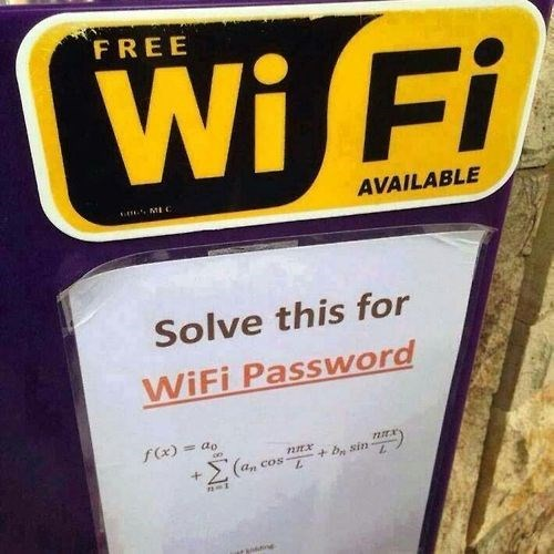 equation password wifi math funny g rated School of FAIL