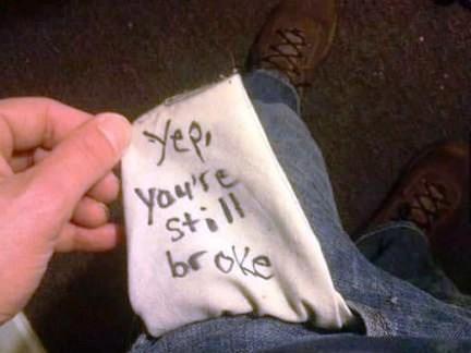 broke pockets money - 8002449408
