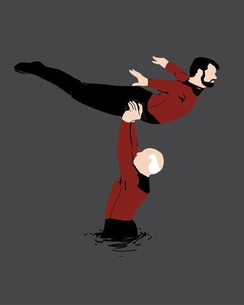 william t riker,jean-luc picard,the time of my life,dirty dancing