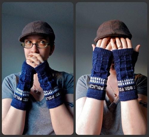 gloves tardis knitting - 8002525952