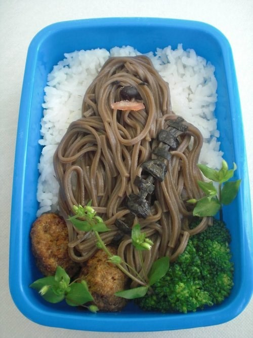 star wars chewbacca food bento box delicious - 8002553856
