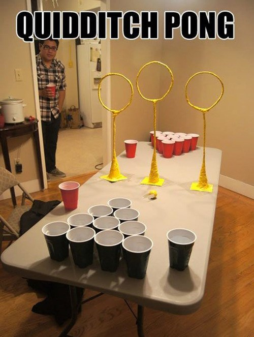 Harry Potter,beer pong,parties,quidditch