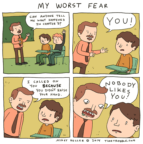 fear,school,web comics
