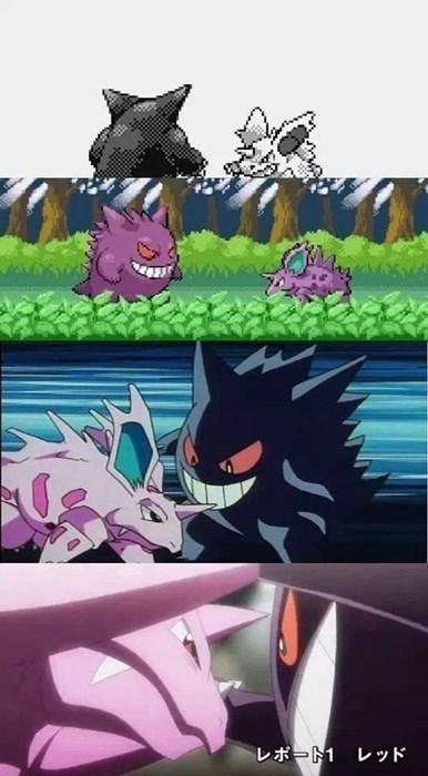 Pokémon,gengar,nidorina