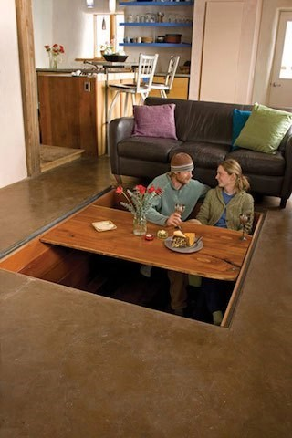 cozy,table,design,hidden