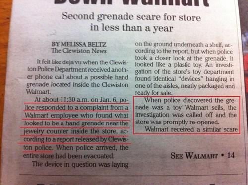 news wtf Walmart idiots grenades - 8002681600