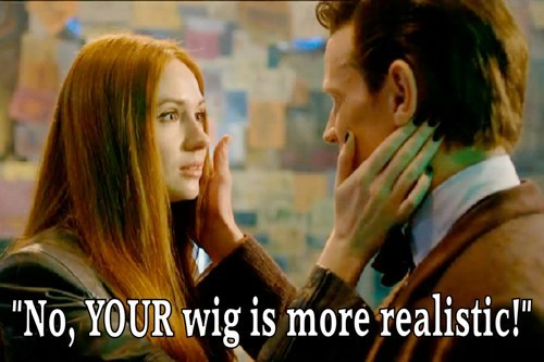 christmas special,wigs,11th Doctor,doctor who,amy pond