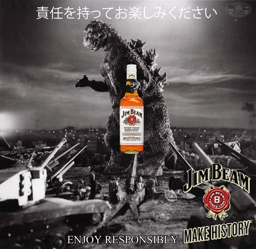 alcohol,godzilla,jim beam