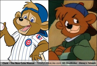 bears,chicago cubs,clark,totally looks like,mascots,talespin,kit cloudkicker