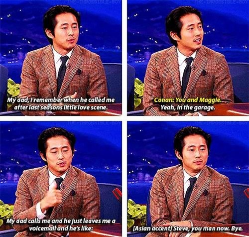 Steven Yeun,conan obrien,The Walking Dead
