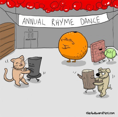 dancing,rhymes,oranges,lonely,web comics