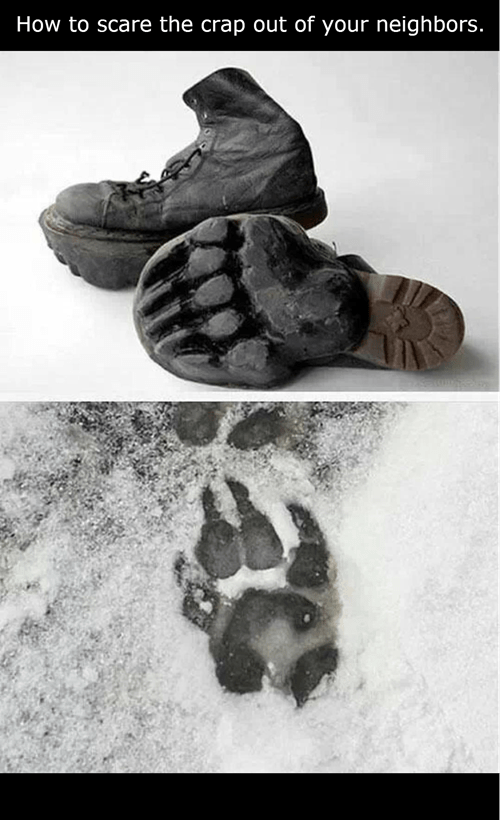 bigfoot boots shoes pawprint boots
