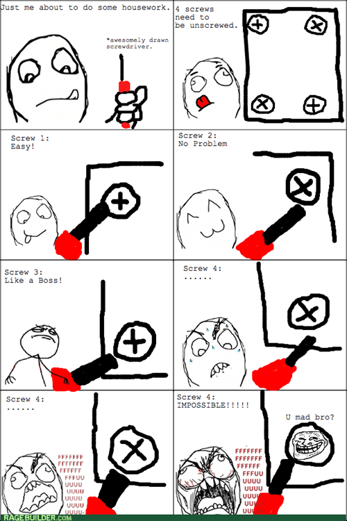 home repair screws trollface rage