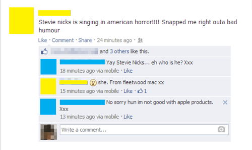 american horror story,fleetwood mac,stevie nicks,failbook,g rated