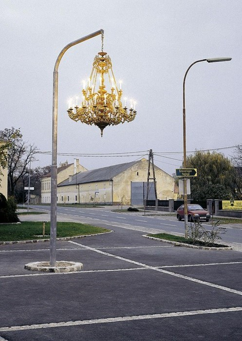 wtf,parking lots,chandeliers