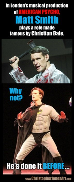 Matt Smith,11th Doctor,batman,celeb