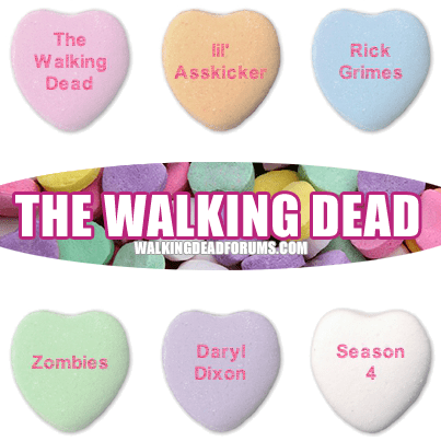 zombie The Walking Dead Valentines day sweethearts - 8004820480