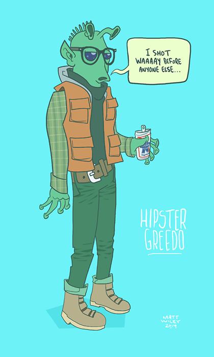 greedo star wars hipster han shot first