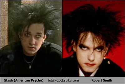 Stash (American Psycho) Totally Looks Like Robert Smith