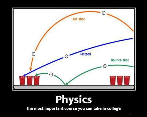 beer pong college physics funny - 8005527296
