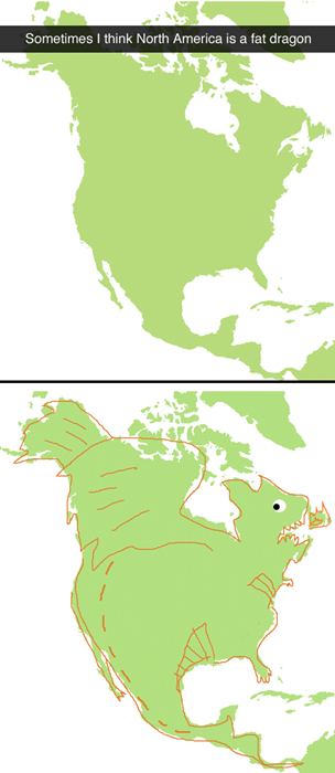 dragons,Maps,north america