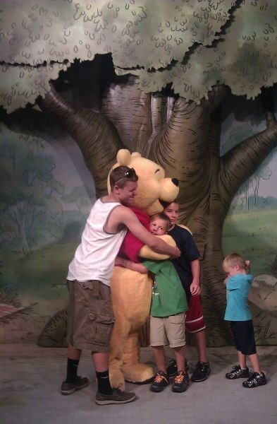 hugs,kids,shy,winnie the pooh,parenting,g rated