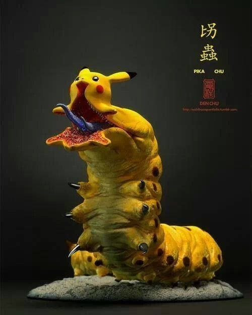 Pokémon wtf creepy mega evolutions pikachu - 8005848832