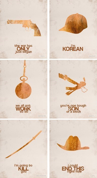carl grimes Rick Grimes minimalist The Walking Dead posters - 8005867264