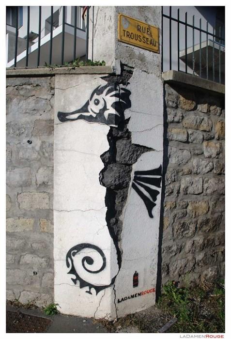 Street Art hacked irl seahorse - 8005905152