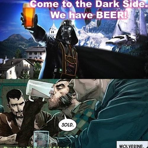 beer dark side darth vader wolverine - 8005930240