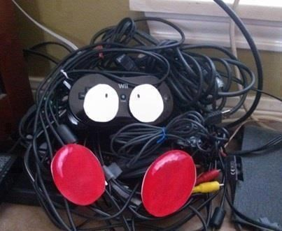 Pokémon,cords,IRL,electronics,tangela