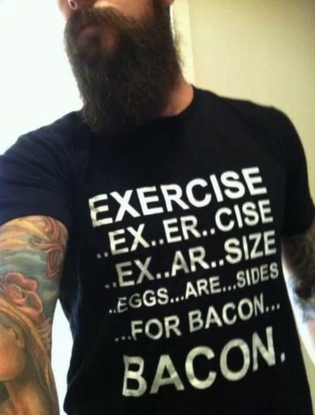 exercise,clothes,shirts,bacon