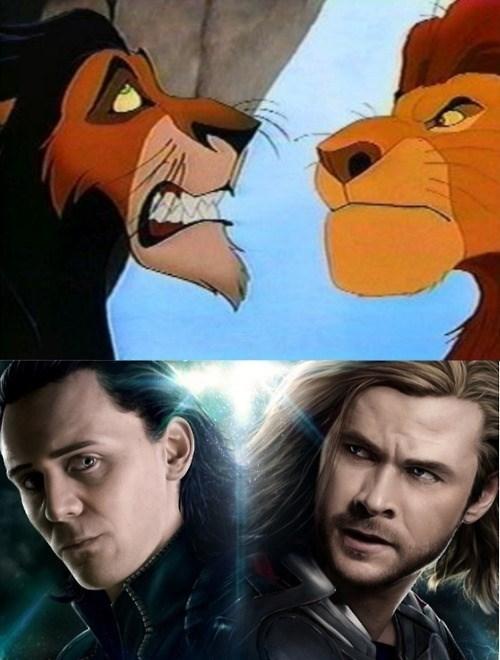 loki Thor lion king - 8006093824