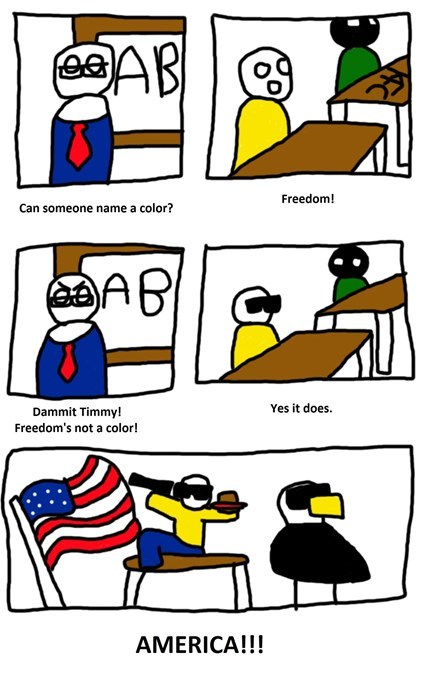 Freedom is the Brightest Color of Them All