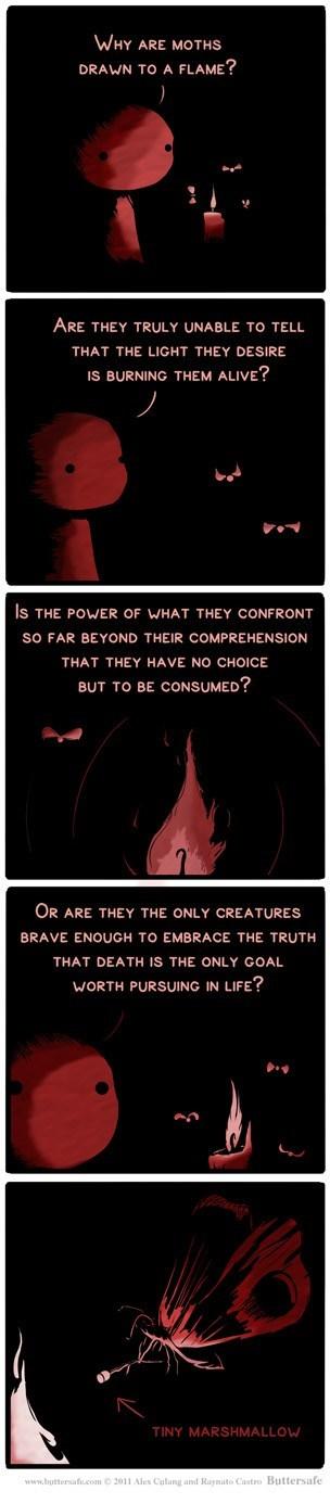 life flames sad but true moths web comics - 8006130944