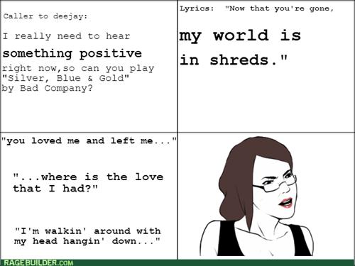 bad company,song lyrics,radio