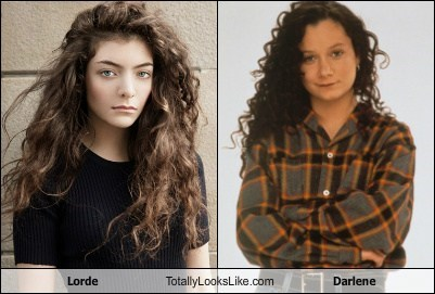 lorde,totally looks like,darlene