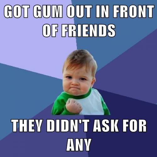 gum Memes success kid - 8007228416