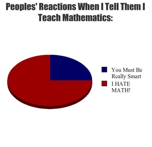 Peoples' Reactions When I Tell Them I Teach Mathematics: