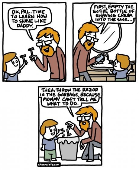 dads,shaving,advice,web comics