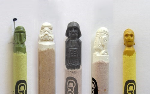 geek,scultpure,crayons,carving