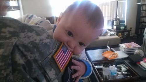 Babies American Flag military parenting - 8007412736