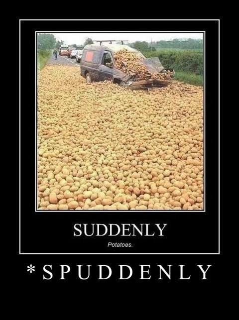 suddenly puns funny potatoes