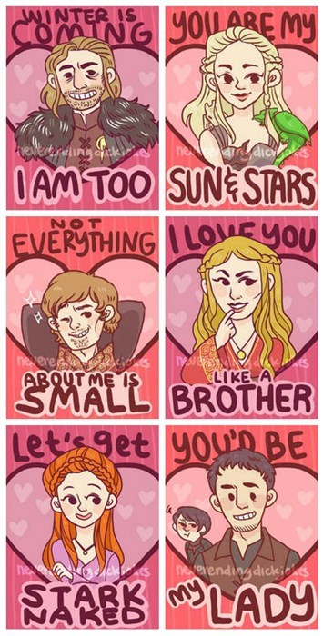 Game of Thrones valentines Valentines day - 8007601664