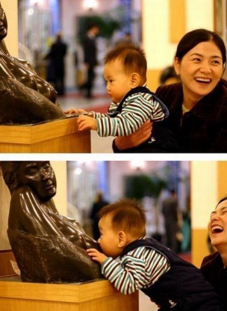 Babies,statues,parenting