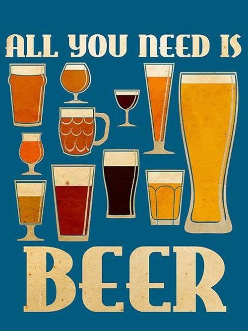 beer all you need poster funny - 8007625216