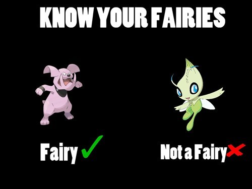 celebi fairies Pokémon granbull fairy types