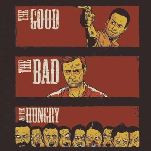 Rick Grimes the good the bad and the ugly the governor - 8007711744