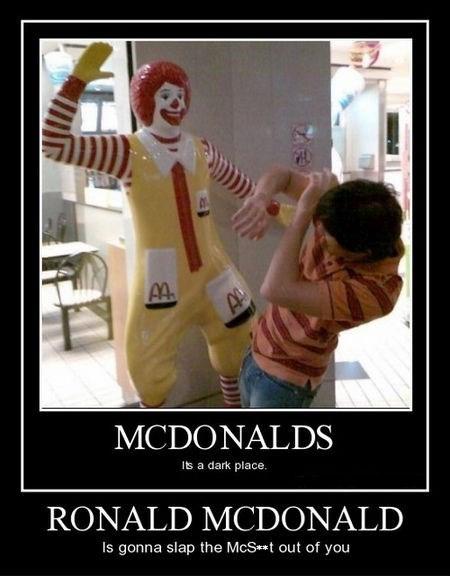 hand funny Ronald McDonald slap wtf - 8007719680