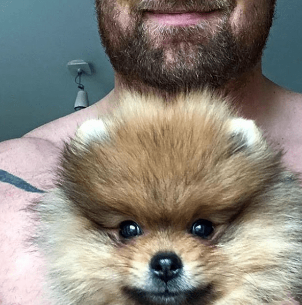 game of thrones actor with tiny dog